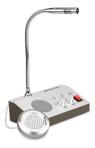 Intercomunicador De Ventanilla Doble Vía Rt-9908