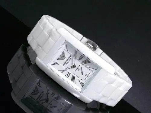 Relógio Empório Armani Ar1408 Cerâmica Branca Promoção Top