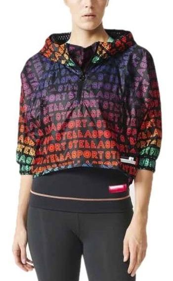 Jaqueta adidas Stella Mccartney Blusa Quebra Vento Cropped