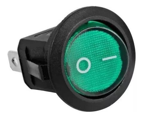Botão Interruptor Led 110/220v Lig/desl Chave Gangorra