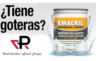 Membrana Liquida Emacril 20 Kg Techos Paredes Elastica Emapi