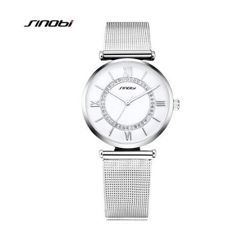 Relógio Feminino Sinobi Silver/prata Aço Inoxidável 9632