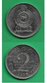 Grr-moneda De Sri Lanka 2 Rupees 1996