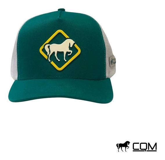 Boné Cqm Basic Green Vaquejada Cavalgada Cavalo Country
