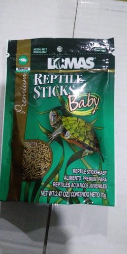 Imagen 1 de 1 de Lomas Reptile Sticks Baby 70 Grs Alimento Tortuga Crecimiento Desarrollo Salud Bienestar