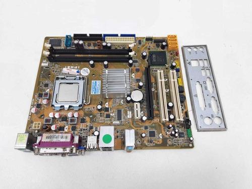 Placa Mãe Pcware Ipm31 775 Ddr2 Aceita Core2quad Garantia Nf
