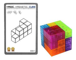 Cubo Mágico Magnético 108 Formas 7 Piezas