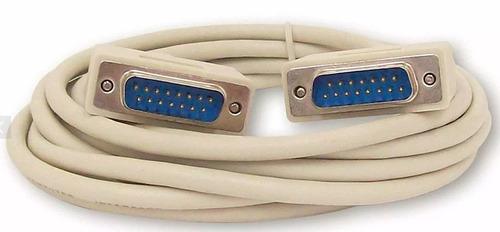 Puntotecno - Cable Serial Db15 Macho - Macho