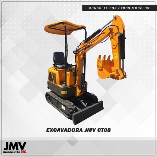 Miniexcavadora Jmv Ct08 Orugas De Goma