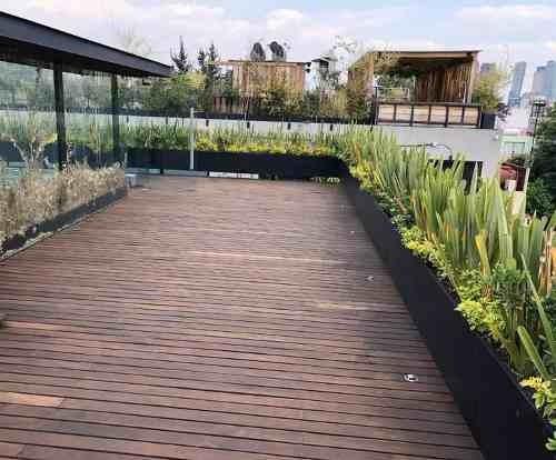 Departamento En Renta De 2 Niveles Moderno Con Roof Garden Privado