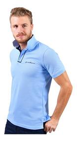 Playera Porto Blanco Polo Camisa Lisa Azul Cielo Pl-582