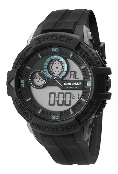 Relógio Masculino Mormaii Shock Preto -mo39008f