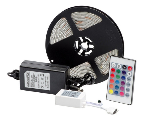 Enintel- Kit Cinta Led 5050 Multicolor Rgb 5 Metros 12v