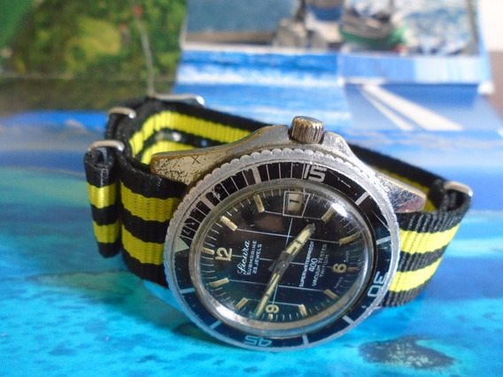 Relógio Sicura By Breitling Diver Militar 60