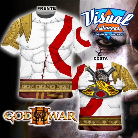 Camiseta Kratos God Of War Ps3
