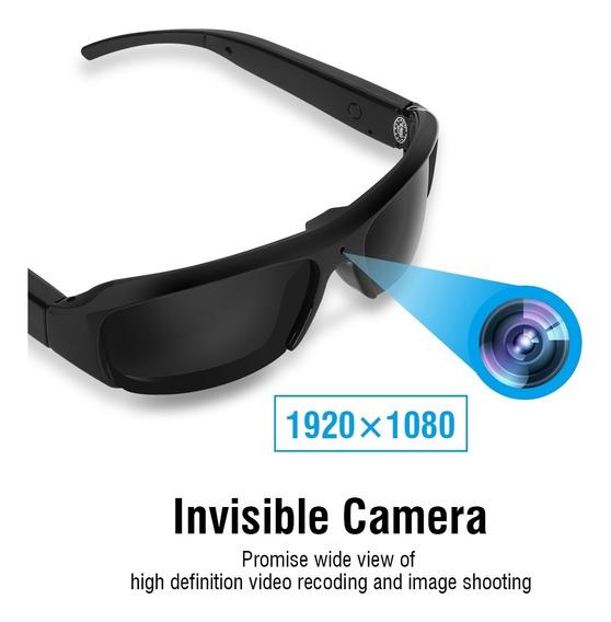 Mini Câmera Óculos De Sol Full Hd 1080p Vidro Eye Wear
