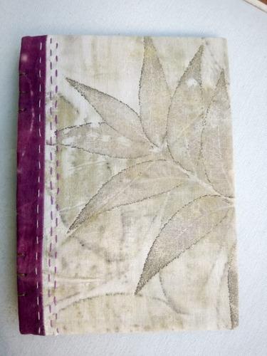 Cuaderno Artístico, Con Impresión Vegetal. Cafeto