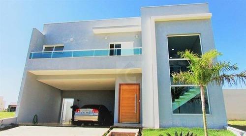 Imagem 1 de 26 de Belíssima Casa Condomínio Dona Lucilla, Terreno De 300m2, 246m2 De Construção, 3 Dorms Com 3 Suítes - Ca0884