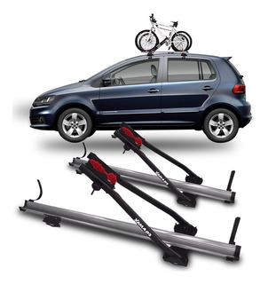 2 Suportes Teto Bicicleta Transbike Eqmax Alumínio Prata