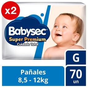 Pañal De Bebe Babysec Super Premium Pack X2 Talla G Tienda