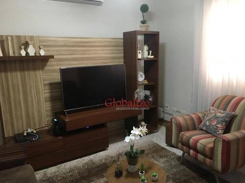 Casa Com 3 Dormitórios À Venda, 132 M² Por R$ 802.000,00 - Macuco - Santos/sp - Ca0064