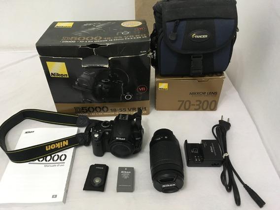 Máquina Nikon D5000 Com Lente 70-300mm