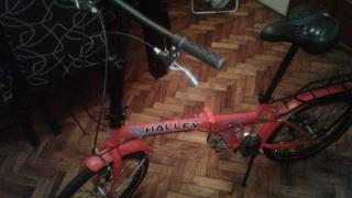 Bicicleta Plegable Halley Rodado 20 - 6 Velocidades.