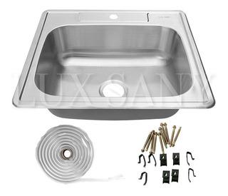 Lux Sany A181 Fregadero Tarja Acero Inox Cal.22 25x19 Inches
