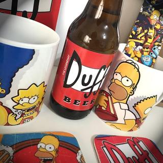 Cerveja Duff Beer 300ml Decorativa + Caneca Dos Simpsons