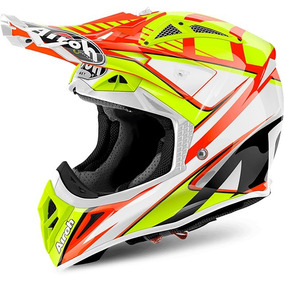 Capacete Airoh Motocross Aviator 2.2 Double Orange Gloss