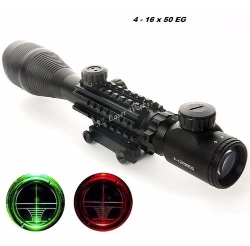 Mira Telescópica  16 X 50 Eg, Táctica, Caza, Rifle.