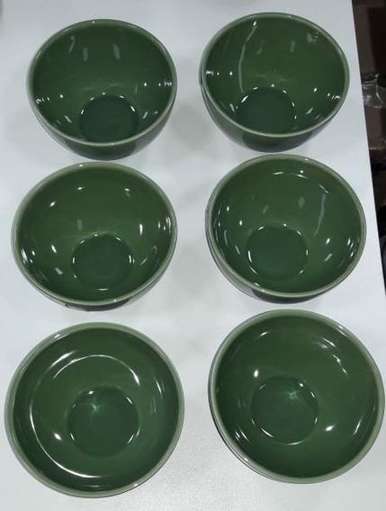 Conjunto 6 Bowls Liso Verde Salvia Porto Brasil Cozinha