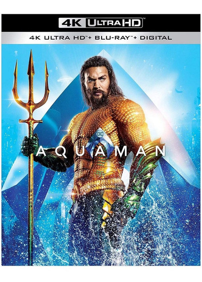 Aquaman 4k Ultra Hd Blu Ray & Codigo Digital Jason Momoa Cpe