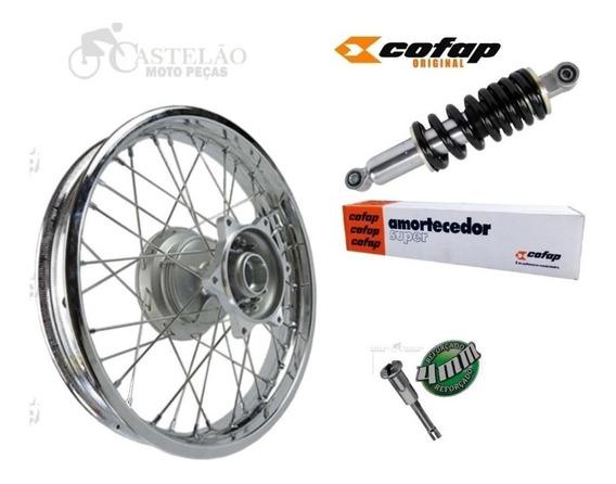 Roda Traseira Nxr Bros 125-150-160 4mm + Amortecedor Cofap