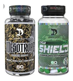Mesotrope 60 Cpas + Shield 60 Caps -dragon Pharma-importado