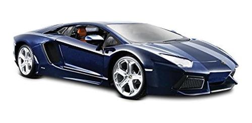 Carro De Juguete Lamborghini, Color Azul Metálico