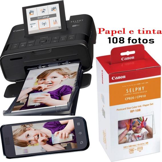 Impressora Portatil Canon Selphy Cp1300 Wifi + 108 Fotos