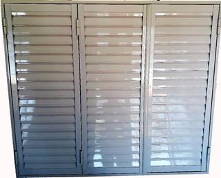 Postigon De Aluminio Blanco 150x150 3 Hojas 18 Cuotas Sin In