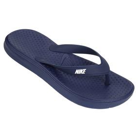 Chinelo Sandália Solay Thong Nike Azul Original + Nfe
