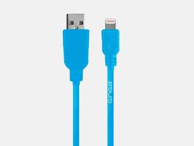 Cable Para Iphone Ginga Go Azul Con Gris Tm