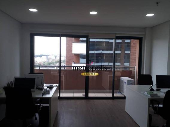 Sala, 51 M² - Venda Por R$ 420.000,00 Ou Aluguel Por R$ 2.000,00/mês - Cerâmica - São Caetano Do Sul/sp - Sa0217