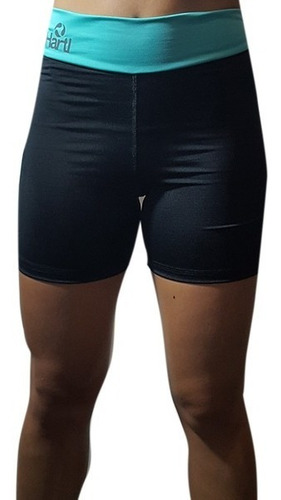 Id296 Calzas Ciclista Mujer Hartl Fitness Urbano Medio Muslo
