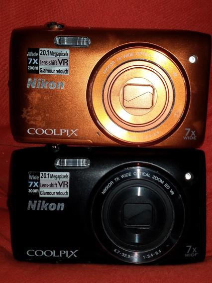 Kit Com 2 Cameras Digital Nikon Coolpix S3500