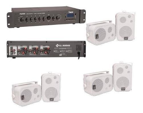 Som Ambiente 6 Setores Amplificador Pw350 + 6 Caixas Nca