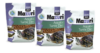 X3 Alimento Mazuri Para Tortugas De Agua + Envio Chimuelocl
