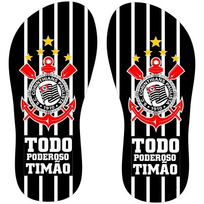 Chinelos Personalizados De Times - Five Stars - F003