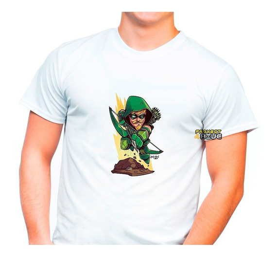 Playera Dc Comics Green Arrow Flecha Verde Liga Justicia