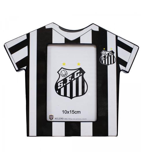 Porta Retrato Camisa Futebol Foto 10x15cm - Santos