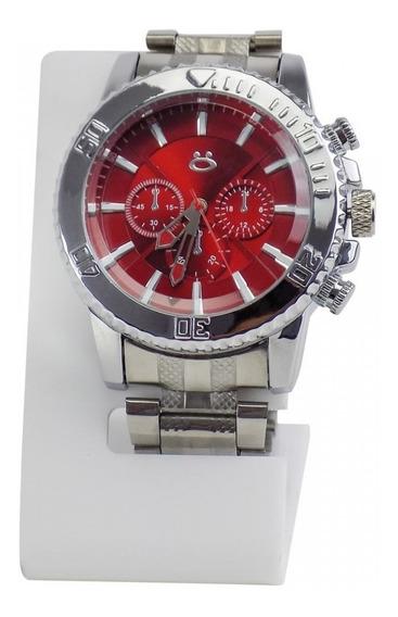 Relógio Masculino Orizom Aço Analógico Silicone Rsa40