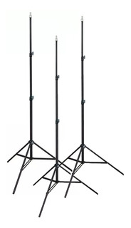 Kit 3 Tripies Lightstand Uso Rudo Heavy Duty Linco 2.10m